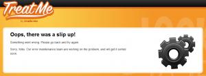 TreatMe.co.nz Server 500 slip up